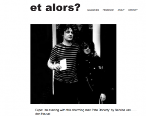 Exhibition Pete Doherty|Sabrina van den Heuvel