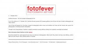 Fotofever Brussels